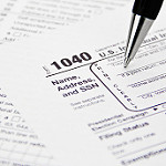 IRS 1040 Tax Form Being Filled Out by kenteegardin